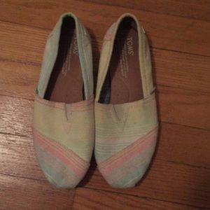 Rainbow pastel toms shoes